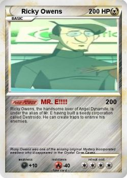 Ricky Owens Pokemon Card by Amphitrite7