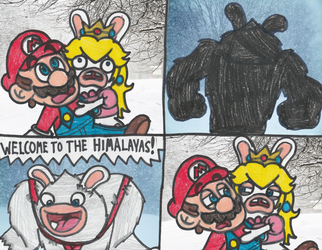 The Abominable Rabbid Kong by DrQuack64