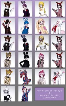 1000+ Watchers Gift: Fnaf 1+2 Models|UPDATED DL| by Tamachee-Insanity