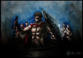 This is SPARTA by minikikiart