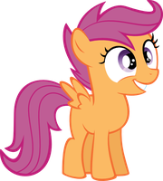 Happy Scootaloo by Shnakes