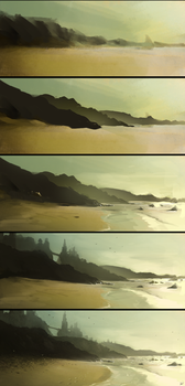 Ocean Fort Step by Step by AaronGriffinArt