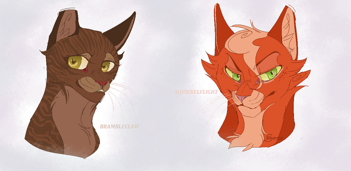 Brambleclaw and Squirrelflight .Gender bended. by CHAR-C0AL
