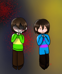 Frisk and Chara by ChristinaBreeze13