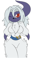 Commission - Absol girl by ZinZoa