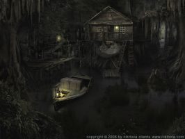 Sleepy hollow. Swamp by Katie-Watersell