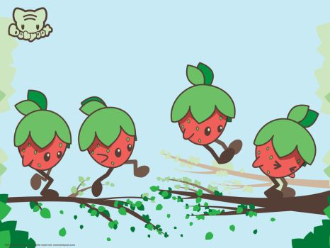 Jumpin' Berry Wallpaper by lafhaha