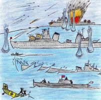 Soviet Naval Battle by Kooskia
