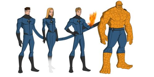 The Fantastic Four (Earth-1) by shorterazer