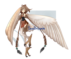 [CLOSED]Auction: Harpy Girl by SamDaLamb