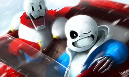 Sans and Papyrus by KORHIPER