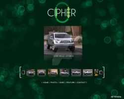 Cipher Home Page by Sunlandictwin