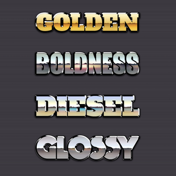 FREE Chrome Reflection Text Styles Vol.2 by graphicloots