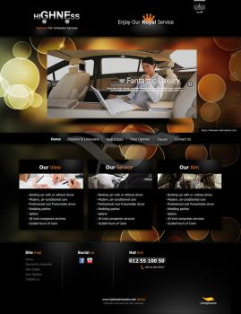 Highness Limousine site by elmooor