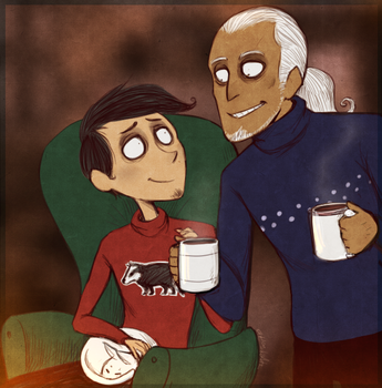 DP - Hot Cocoa Evenings (Advent Commission) by Atlas-White