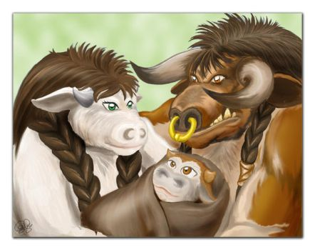 Cow Family by SweetJeannie