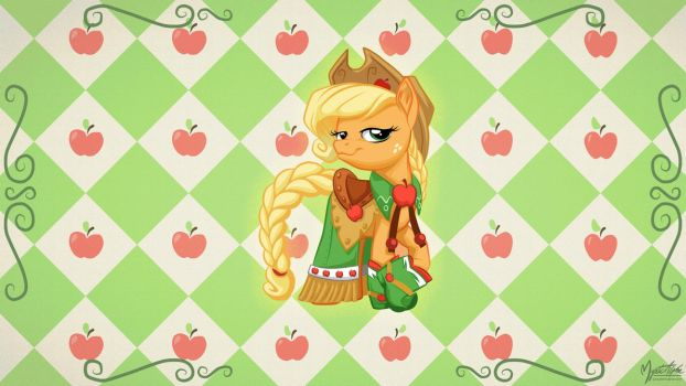 Applejack in Gala Dress 16.9 by mysticalpha