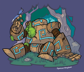 The Golem and his Little Friend by SpencerBingham