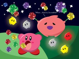 Kirby and the Hungry Luma by gemstonelover49