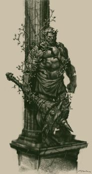 God of War III- Brute Sketches by andyparkart