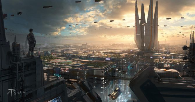 Elliptical City by 2buiArt