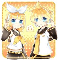 Rin and Len by no-taro