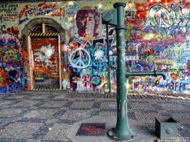 John Lennon wall by PaSt1978