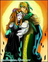 midna and Link and baby  by Christy58ying