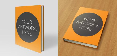 Hardback Book Mock Up Pack 8.5x11 by TheApparelGuy