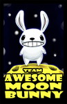 Team Awesome Moon Bunny by cjcat2266
