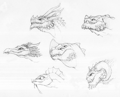 Dragon heads by Megume