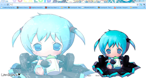Baby Miku Google Chrome Theme by kyoyaanime