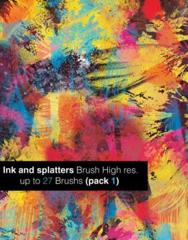 INK AND SPALTTERS BRUSHES by kevindevincenzi