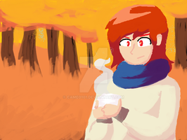 Claire but ms paint woods by Cameo101