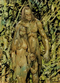 Squatch Family by Dubisch
