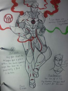 DC Redesign: Emerald Guardians:Guy Gardner by wallaswells1