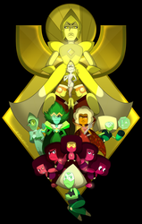 Yellow Diamond's Court by LeeVC