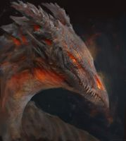 Volcano dragon by Manzanedo