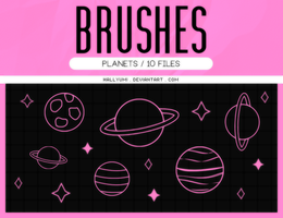 BRUSHES: Planets #2 by Hallyumi