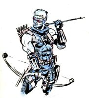 sketch jam - hawkeye by mistermoster
