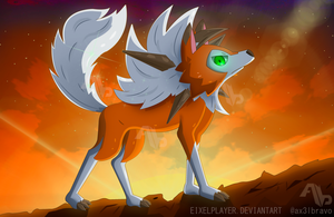 Pokemon Sun And Moon ~ Lycanroc Dusk Form by ax3lbravo