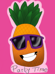 Party pineapple. by greentigergirl
