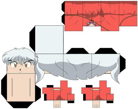 InuYasha Paper Figure Template by L0RDINUYASHA
