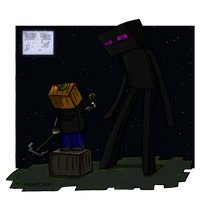 My Friend The Endermen by DordtChild