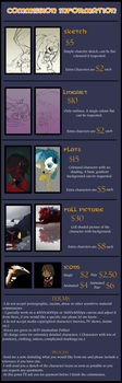 Commission Information - Commissions OPEN by Kaylimepie