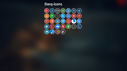 Darq-icons V1 by Kaizokupuffball