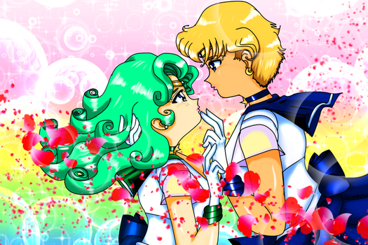 Super Sailor Uranus x Super Sailor Neptune by KorianderBullard