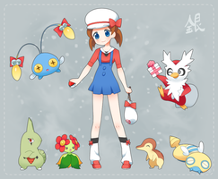 Tay's Pokemon Team by drill-tail