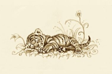 Tiger Cub by EsthervanHulsen