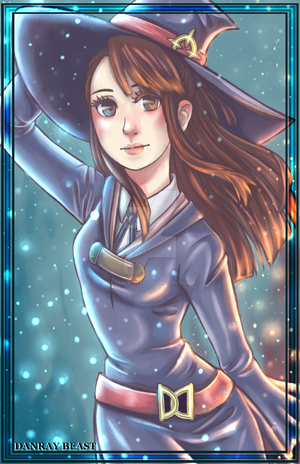 Akko Kagari Fan Art by DanrayBeast